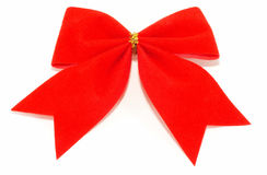 Closeup Bow on a white background, simple giftwrap Stock Image