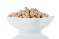 Closeup of a bowl with chickpeas Royalty Free Stock Photos