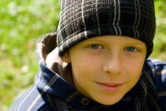 Closeup Boy in a Cap Royalty Free Stock Photography