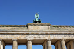 Closeup of Brandenburg gate in Berlin, Germany Stock Photography