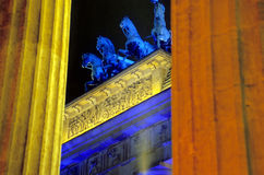 Closeup of the Brandenburger Tor in Berlin Stock Image