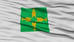 Closeup Brasilia City Flag, Brazil Royalty Free Stock Photography