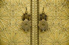 Brass Door Stock Photo