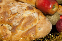 Closeup Of Bread And Apple Royalty Free Stock Image