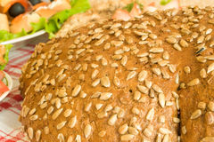 Closeup of Bread with seeds Royalty Free Stock Photos