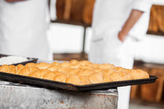 Closeup Of Breads On Baking Tray Royalty Free Stock Image