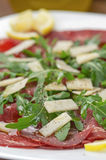 Closeup bresaola Stock Images
