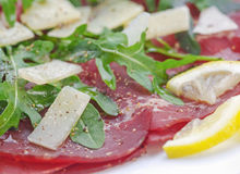 Closeup bresaola Royalty Free Stock Photography