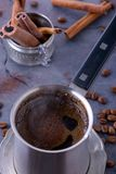Closeup brewed coffee Stock Image