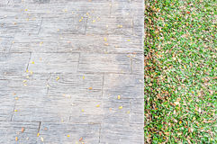 Closeup of brick pathway Royalty Free Stock Images