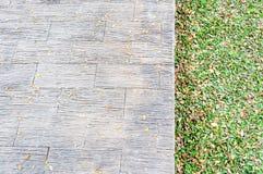 Closeup of brick pathway Royalty Free Stock Images