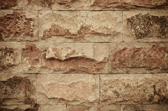 Closeup of the brick wall Royalty Free Stock Image