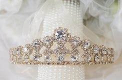 Closeup of bridal tiara jewelry Stock Images