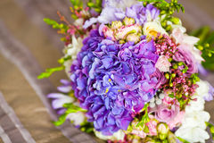 Closeup of brides flowers on wedding day Royalty Free Stock Photography