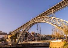 Closeup of the bridge D. Luis I Stock Photos