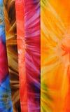Closeup Bright Fabrics Stock Photo