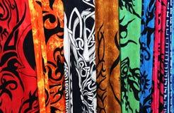 Closeup Bright Fabrics Stock Photos