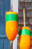 Closeup of bright orange fishing buoys Stock Photos