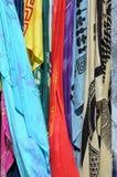 Closeup Bright Shawls Royalty Free Stock Photo