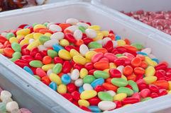 Closeup of brightly colored candies. In a Dutch candy stall at a fair Royalty Free Stock Photography