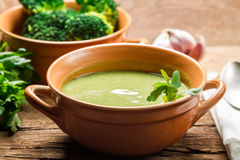 Broccoli soup made of fresh vegetables Royalty Free Stock Photo