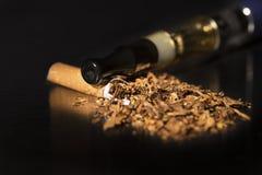 Closeup broken cigarette stop smoking Royalty Free Stock Photography