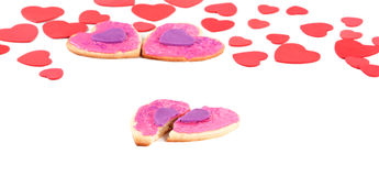 Closeup of The Broken Hearted Cookie Royalty Free Stock Images