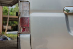 Closeup broken rear light   at back car Royalty Free Stock Photography