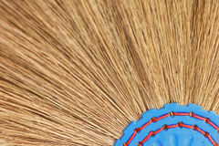 Closeup a broom Royalty Free Stock Photo