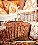 Closeup of baked brown bred Royalty Free Stock Images