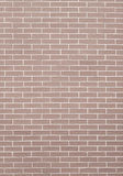 Closeup of brown brick wall as background or texture Royalty Free Stock Image