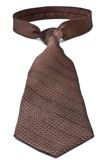 Closeup of a brown business tie Stock Photography