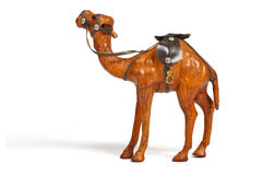 Closeup of brown camel souvenir made from leather Royalty Free Stock Image