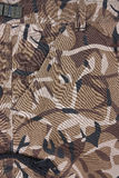Closeup brown camoflage pocket shorts (front) Stock Images