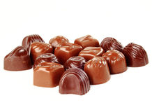Closeup brown chocolate. Candy background royalty free stock image