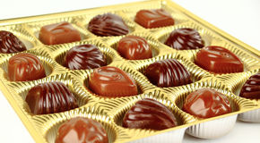 Brown chocolate candy. Closeup brown chocolate candy background stock photo