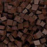 Closeup brown chocolate candy background, 3d rendering Stock Photo