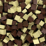 Closeup brown chocolate candy background, 3d rendering Royalty Free Stock Images