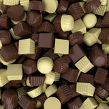 Closeup brown chocolate candy background, 3d rendering Stock Photography