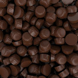 Closeup brown chocolate candy background, 3d rendering Stock Image