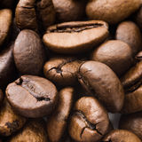 Closeup of brown coffee background.  Stock Images