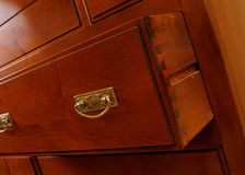 closeup with brown drawer accessories royalty free stock images