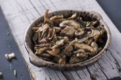 Cooked mixed mushrooms Stock Image