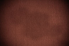 Closeup of brown fabric textile material as texture or background Royalty Free Stock Image