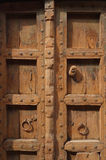 Closeup of Brown Indian Wood Door stock photography