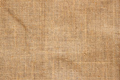 Closeup of brown Natural sackcloth texture for background Stock Images