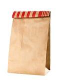 Brown paper bag. Closeup of a brown paper bag Royalty Free Stock Photo