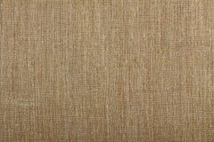 Closeup of brown textured surface, burlap texture background. Stock Image