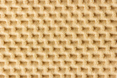 Closeup brown waffle patterned cloth. Stock Photo