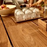 Wooden table in cafe Stock Photos